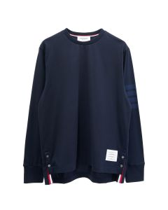 [お問い合わせ商品] THOM BROWNE. LONG SLEEVE RUGBY TEE IN MED WEIGHT JERSEY W/ TONAL 4 BAR / 415 : NAVY