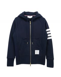 [お問い合わせ商品] THOM BROWNE. CLASSIC FULL ZIP HOODIE WITH ENGINEERED 4-BAR IN CLASSIC LOOP BACK / 461 : NAVY