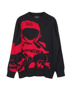 Unknown GANG JACQUARD CREWNECK / RED