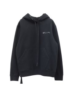 BEN TAVERNITI UNRAVEL PROJECT UNRVL BONES T BRUSHE BASIC HOODIE / 1001 : BLACK WHITE
