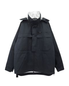 BEN TAVERNIT UNRAVEL PROJECT COT LAMINA OPENSIDE WINDBREAKER / 1000 : BLACK NO COLOR