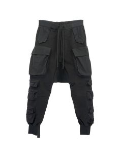 BEN TAVERNITI UNRAVEL PROJECT COT MULTI POCKETS CARGO PANTS / 1000 : BLACK NO COLOR