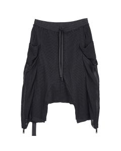 BEN TAVERNITI UNRAVEL PROJECT MESH POCKETS CARGO SHORTS / 1000 : BLACK NO COLOR