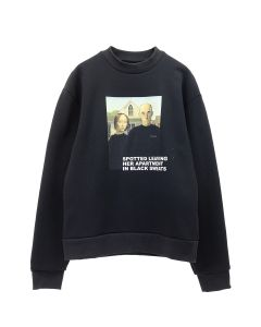 URBAN SOPHISTICATION SPOTTED SWEATSHIRT / BLACK