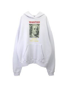 URBAN SOPHISTICATION WANTED HOODIE / WHITE