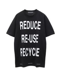UNITED STANDARD VIRGIL RECYCLE T-SHIRT / 001 : BLACK