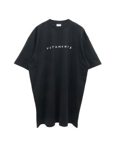 VETEMENTS FRIENDLY LOGO T-SHIRT / BLACK