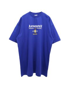 VETEMENTS ANTWERP LOGO T-SHIRT / ROYAL BLUE