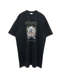 VETEMENTS ELECTRIC LOGO HEAVY METAL T-SHIRT / BLACK