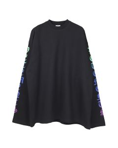 VETEMENTS DEGRADE GOTHIC LOGO LONGSLEEVE / BLACK