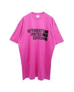 VETEMENTS BIG LOGO LIMITED EDITION T-SHIRT / HOT PINK