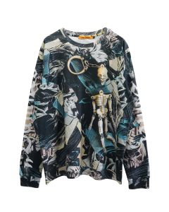 VYNER ARTICLES LONG SLEEVES T-SHIRT JERSEY / 8011 : COMIC DIGITAL PRINT