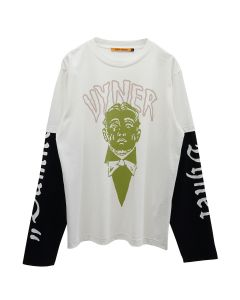 VYNER ARTICLES SKATER T-SHIRT JERSEY / 9021 : VYNER M PRINT OWH-GR