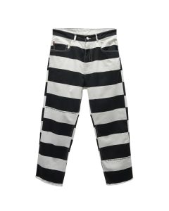 VYNER ARTICLES DARTS PANT COTTON SATEEN / 1032 : STRIPED ALL OVER PRINT