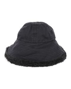 VYNER ARTICLES BUCKET HAT TEDDY COTTON SATEEN / 1000 : BLACK
