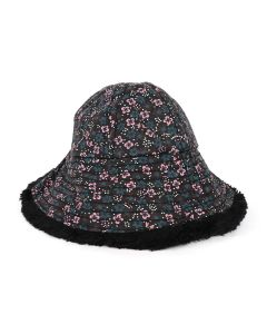 VYNER ARTICLES BUCKET HAT TEDDY CANVAS / 8015 : FLOWERS ALL OVER PRINT