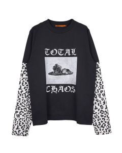 VYNER ARTICLES SKATER T-SHIRT WITH PRINT / 1017 : TOTAL CHAOS PRINT&LEOPARD PRINT