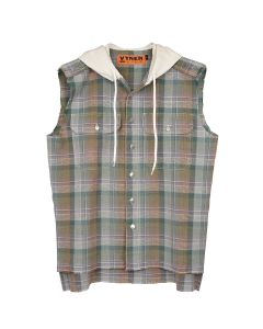 VYNER ARTICLES HS SLEEVELESS SHIRT CHECKS YARNDYED / 9099 : CALICO