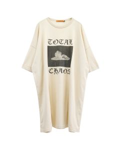 VYNER ARTICLES OVERSIZE KNIT T-SHIRT WITH PRINT / 9013 : TOTAL CHAOS PRINT CA-BL
