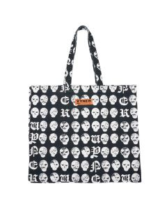 VYNER ARTICLES TOTE BAG WITH PRINT / 1016 : SALMIAKKI PRINT BL-WH