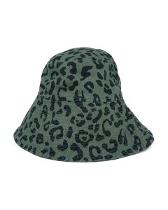 VYNER ARTICLES BUCKET HAT WITH PRINT / 3007 : CHAOS LEOPARD PRINT KH-BL