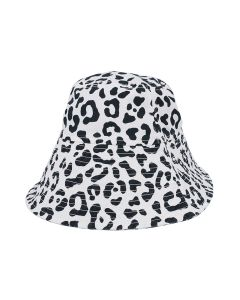 VYNER ARTICLES BUCKET HAT WITH PRINT / 9011 : CHAOS LEOPARD PRINT OWH-BL