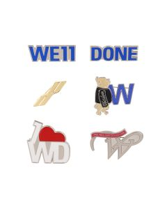 WE11DONE SET OF WE11DONE PINS F / MIX