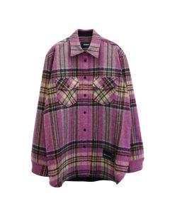 WE11DONE WD CHECK WOOL SHIRT / PINK