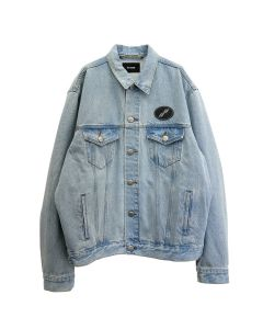 WE11DONE OVERSIZED DENIM JACKET / ICE