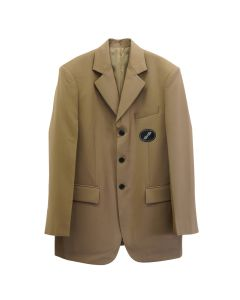 WE11DONE SUIT LOGO BLAZER / BEIGE