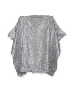 WE11DONE WOMENS TWINKLE WING SKIRT / SILVER