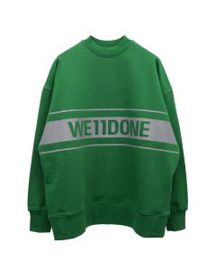 WE11DONE REFLECTIVE LOGO PULLOVER / GREEN