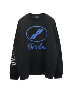 WE11DONE WD PRINT LOGO TOP / BLACK