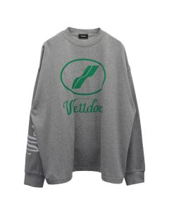WE11DONE WD PRINT LOGO TOP / GREY