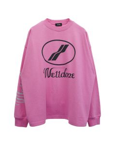 WE11DONE WD PRINT LOGO TOP / PINK