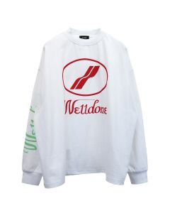 WE11DONE WD PRINT LOGO TOP / WHITE