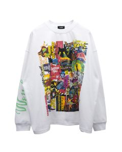 WE11DONE HORROR COLLAGE TOP / WHITE