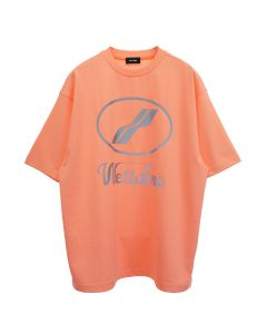 WE11DONE WE11DONE LOGO T-SHIRT / NEON ORANGE