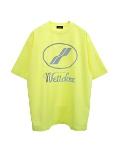 WE11DONE WE11DONE LOGO T-SHIRT / NEON YELLOW