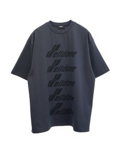 WE11DONE COTTON WELLDONE FRONT LOGO T-SHIRT / CHARCOAL