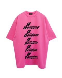 WE11DONE COTTON WELLDONE FRONT LOGO T-SHIRT / PINK