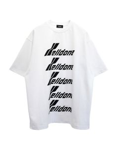 WE11DONE COTTON WELLDONE FRONT LOGO T-SHIRT / WHITE