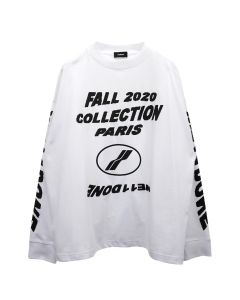 WE11DONE FW20 COLLECTION LONG SLEEVE T-SHIRT / WHITE