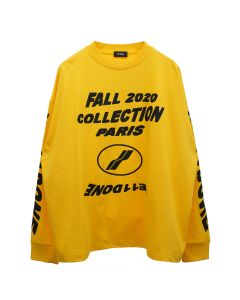 WE11DONE FW20 COLLECTION LONG SLEEVE T-SHIRT / YELLOW