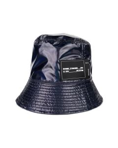 WE11DONE NEW RUBBER PATCH BUCKET HAT / NAVY