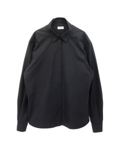 WE11DONE LONG SLEEVE SHIRT WITH ZIPPER DETAIL / BLACK