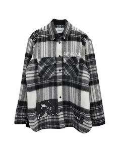WE11DONE WD PRINT WOOL SHIRT / GREY