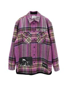 WE11DONE WD PRINT WOOL SHIRT / PINK