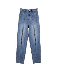 WE11DONE ZIP MOM JEANS / BLUE