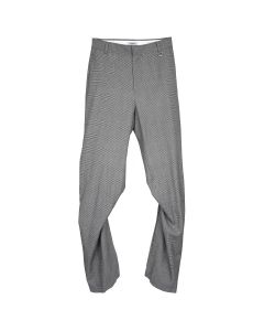 WE11DONE GLEN CHECK WOOL BACK SLIT TROUSERS / GREY